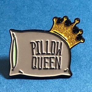 """Pillow Queen"" Enamel Pin, Brooch Backpack Pin"
